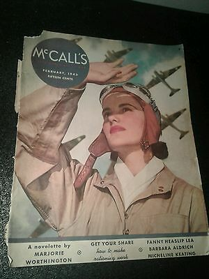 1943 Ww2 Wartime Waac Us Army Air Corps Mag Cover