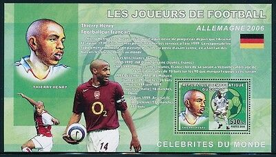 Bloc feuillet Neuf ** MNH - Congo 2006 - Football - Thierry Henry