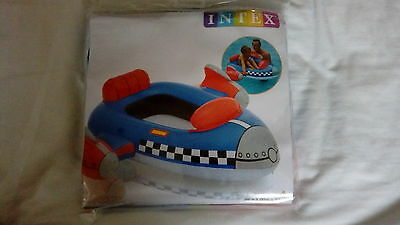 Inflatable Childrens Swimming Space Rocket Boat Bn