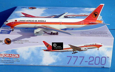 Dragon Wings Angola Airlines B777-200 1:400 scale diecast model aircraft.