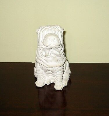 SHAR PEI Dog cast - Ready to paint your own