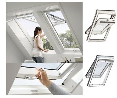 Top! Original VELUX Kunststoff Klapp-Schwingfenster GPU Thermo Dachfenster GLU