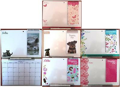 2017 Memo Calendar  & Shopping Pad With Write-On, Write-Off Pen For Wall Hanging