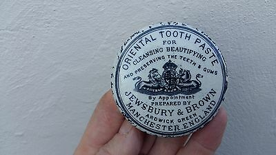 """Jewsbury+Brown,Manchester """"mottled effect"""",Oriental tooth paste pot lid"""