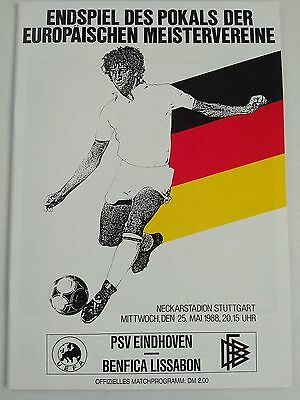 1988 European Cup Final PSV v Benfica Mint condition. CHEAPEST ON EBAY.