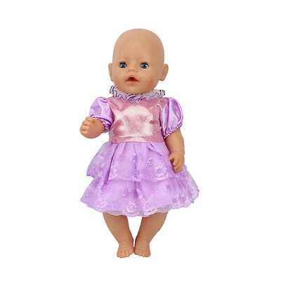 purple dress clothes Wearfor 43cm Baby Born zapf (only sell clothes )