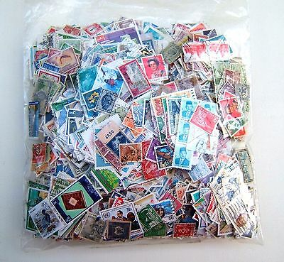 6,500 World Stamps off 99% Off Paper, Kiloware - All Good Condition