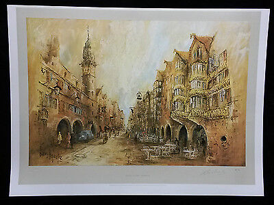 Golden Square, Innsbruck by Ben Maile,Limited Edition,Signed and Stamped,Print