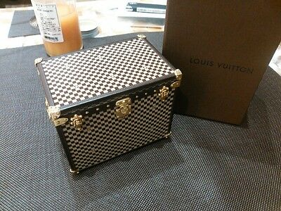 Louis Vuitton Auth Novelty Objet of Damier 1895 Trunk Case Limited Very Rare LV