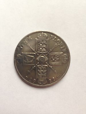 King George V 1922 Silver One Florin Coin