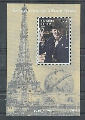 XG-Z777 NIGER IND - Churchill, 1998 20Th Century Events MNH Sheet