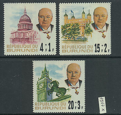 XG-Z882 BURUNDI - Churchill, 1967 In Memory MNH Set