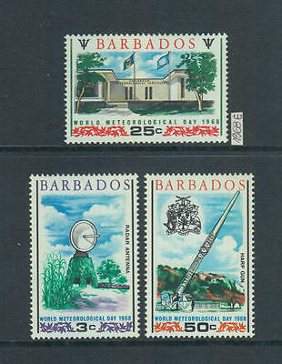 XG-Z908 BARBADOS IND - Space, 1968 World Meteorological Day MNH Set