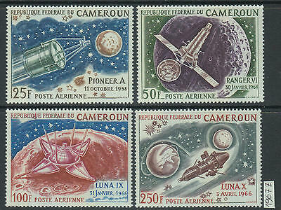 XG-Z921 CAMEROON IND - Space, 1967 Satellites, Pioneer A, Ranger Vi MNH Set