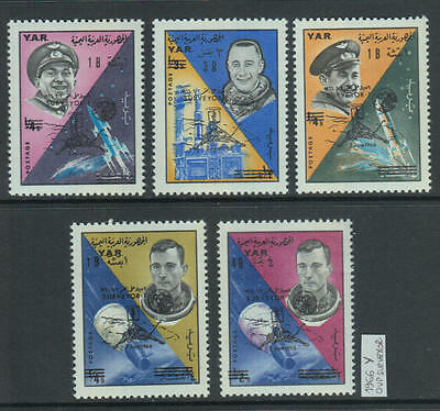 XG-Z929 YEMEN - Space, 1966 Surveyor 1 Overprints MNH Set