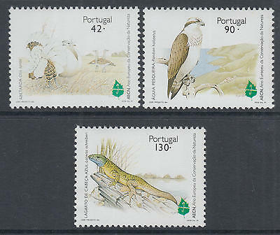 XG-P826 PORTUGAL - Birds, 1995 Reptiles, Nature Protection, Upaep MNH Set