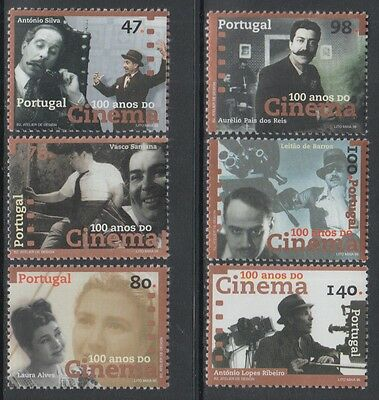 XG-P858 PORTUGAL - Cinema, 1996 Centenary, Movies MNH Set