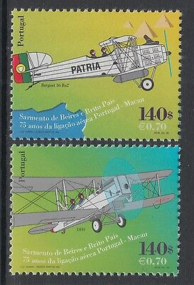 XG-P942 PORTUGAL - Macau, 1999 Joint Issue, Aviation, Air Connection MNH Set