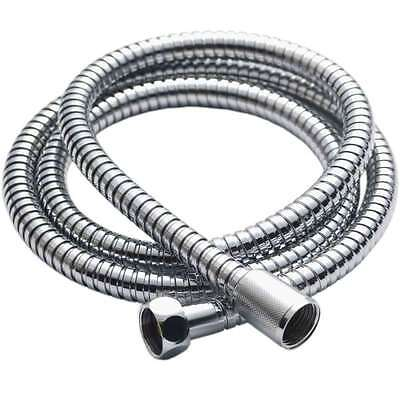 1.2M CHROME SHOWER BATH HOSE Flexible Stainless Steel Replacement Pipe