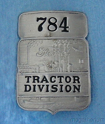 "Vintage Ford Employee Badge: ""TRACTOR DIVISION"" Highland Park Michigan"