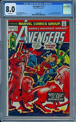 AVENGERS #112 - CGC 8.0 White Pages - VF First MANTIS - New Case