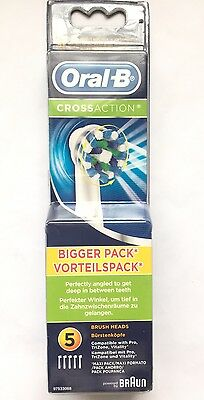 Oral-B Cross Action Bigger Pack Vorteilspack Perfectly Angled 5 BrushHeads Pack