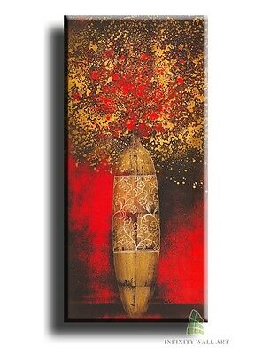 12'' X 6'' Canvas Art Prints Flower Vase Abstract Framed Picture Graphics.-&C17