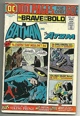 The BRAVE and The BOLD #115~DC Comics *F/VG+*