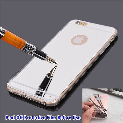 Luxury Ultra-thin TPU Silver Mirror Metal Case Cover for iPhone 6 Plus [ly374