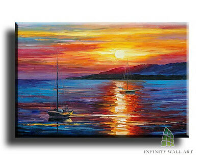 "20""X12"" Canvas Art Prints Abstract Landscape Framed Fine Art Picture Graphic(C46"