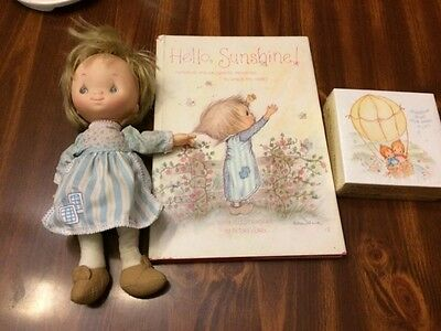 Vintage Betsey Clark Lot Doll, Unopened Mini Puzzle, Book
