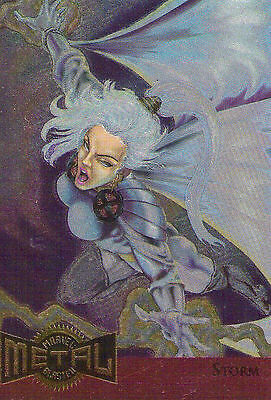 1995 MARVEL METAL BLASTER Card #13 -STORM.