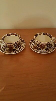 Myott Meakin dynasty collection dragon of kowloon cups and saucers