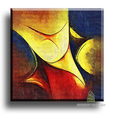"20""X20"" Canvas Art Prints Abstract Framed Fine Art Picture Graphics;&C9"