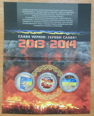 The Heavenly Hundred/Euromaidan/Revolution of Dignity 5 hrn. 2015 Coin Set