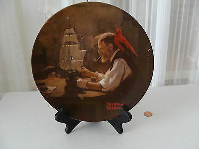 Norman Rockwell plate numbered The Ship Builder 1980 Knowles China