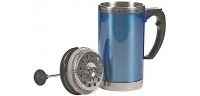 Insulated Coffee French Press Mug for Travel Hiking or Camping