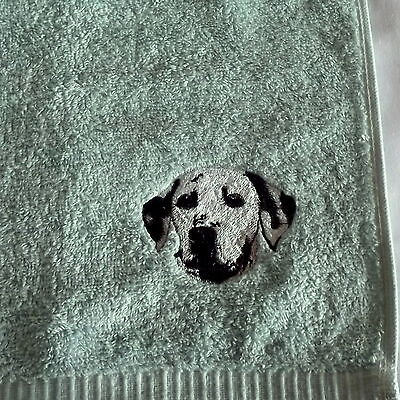 Dalmatian Dog Embroidered Face Cloth/ Flannel, Dog Gift