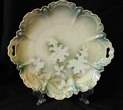 """ANTIQUE RS PRUSSIA PORCELAIN CAKE PLATE """"RED"""" MARK ca. 1880-1917"""