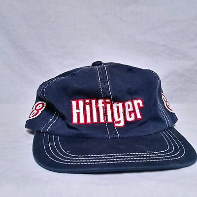 VTG Tommy Hilfiger Strapback Hat 90 s Spell Out Flag Cap Cycling Colorblock  90s a52ec0a764dc
