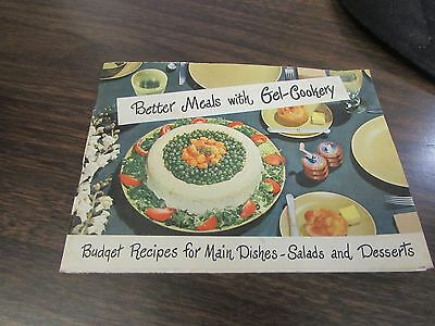 Vintage - Better Meals With Gel-Cookery - Knox Unflavored Gelatine - 1952
