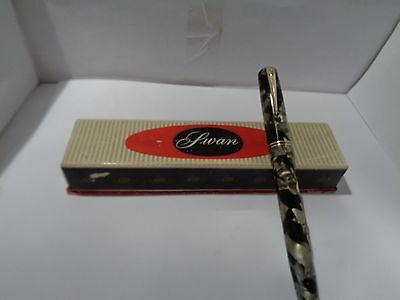 vintage swan fountain pen and box