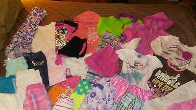 Huge 28pc lot of girls sz 7/8 Spring & Summer Clothing MH Disney Justice SO