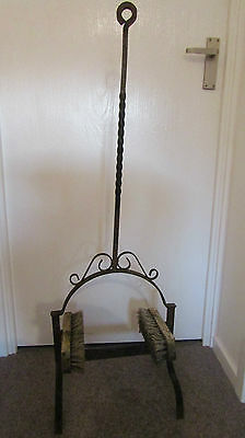 Vintage Wrought Iron Boot Scraper With Double Brush ~ Lovely quality piece
