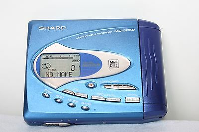 Sharp Md-Sr50 Md Portable Recorder Blue Minidisc Recorder Player Item Code  M409