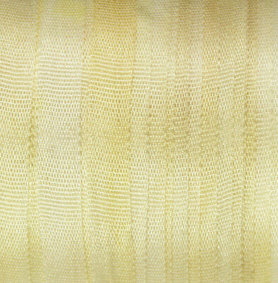 Hand Dyed Silk Ribbon  4mm - 3 meters Pale Yellow