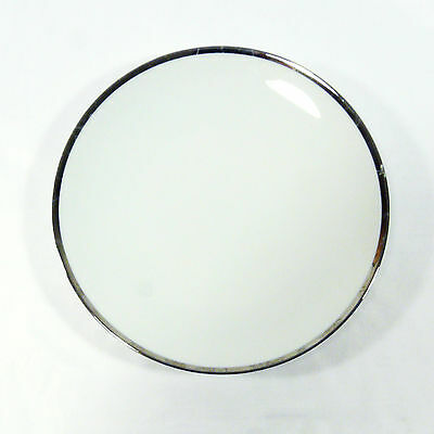 THOMAS china desert plate - Medallion Platinum - wide silver band [scratched] D