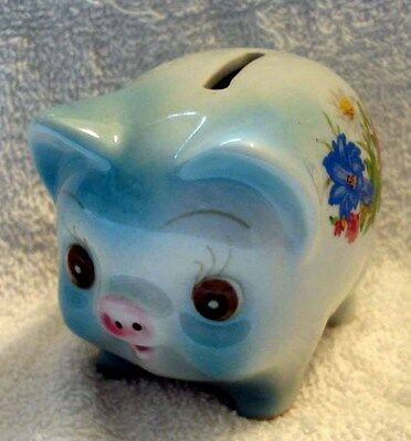 Rare Bockling Hand Painted Piggy Bank W Label Made In Germany