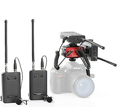 Saramonic Dual Wireless VHF Lavalier Microphone Bundle with 2 Transmitters, 2