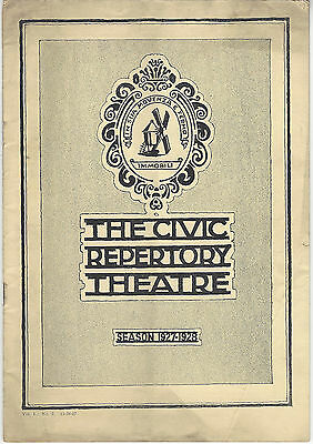 1927-28 Program Civic Repertory Theatre 2x2=5 (Twice Two Are Five) + Flyers